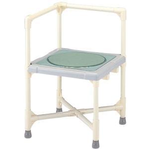 浴槽への移乗台としてもご使用可能 シャワーいす ターンテーブルタイプ L型 CAT-0101 シャワーチェア シャワーベンチ|kaigo-scrio