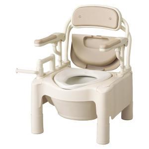 ポータブルトイレ 介護用品 安寿FX-CP はねあげちびくまくん kaigo-scrio