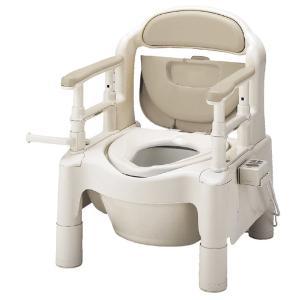 ポータブルトイレ 介護用品 安寿FX-CP はねあげちびくまくん 暖房便座 kaigo-scrio