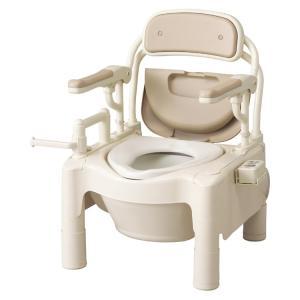 ポータブルトイレ 介護用品 安寿FX-CP はねあげちびくまくん 暖房・快適脱臭 kaigo-scrio