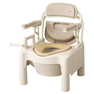 ポータブルトイレ 介護用品 安寿FX-CP はねあげちびくまくん ソフト便座 kaigo-scrio