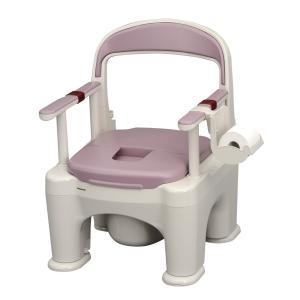 ポータブルトイレ 介護用品  座楽 ラフィーネ 標準プラスチック便座 PN-L30201 前後傾斜脚ゴムつき kaigo-scrio