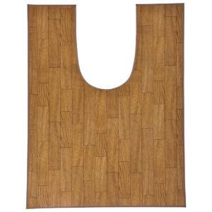 トイレマット 木目調トイレ用マット ワイドロング 樹脂素材 80×120cm|kaigo-scrio