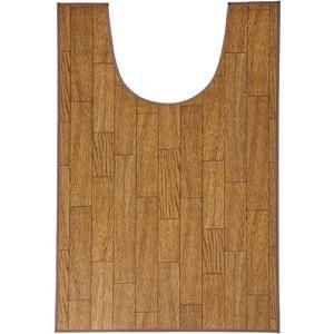 トイレマット 木目調トイレ用マット ロング 樹脂素材 60×100cm|kaigo-scrio