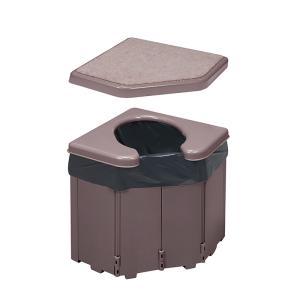 ポータブルコーナートイレ 非常用簡易トイレ 凝固剤・汚物袋入り|kaigo-scrio