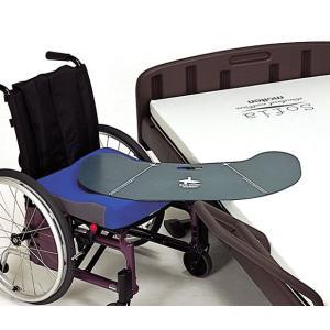 移乗支援 イージーモーションは、独自のブーメラン形状により、ベッド側・車いす側ともに設置面積が広く取...