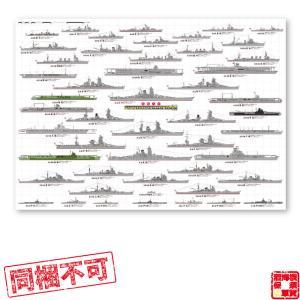 軍艦大全 大日本帝国海軍 A1耐水紙ポスター  帝國海軍 グッズ インテリア 戦艦 赤城 加賀 大和 長門 金剛 鉄腕DASH 鉄腕 ダッシュ DASH kaigunsan