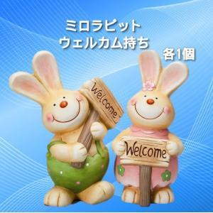 ミロラビットウェルカム持ち 2種×1個 【2個セット】 エイチツーオー|kaikai-shop