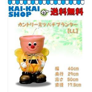 カントリーミツバチプランターLL 【単品 穴有り】 エイチツーオー|kaikai-shop