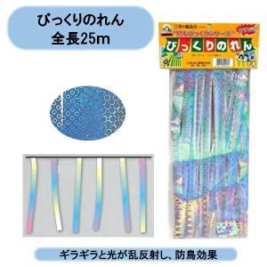 鳥避け びっくりのれん 全長25m 5セット(125m) メーカーB商品|kaikai-shop