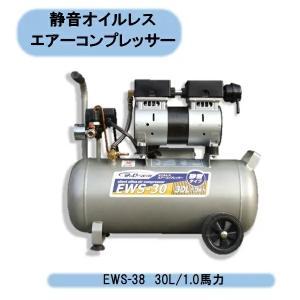 シンセイ 静音オイルレスコンプレッサー30L EWS-30|kaikai-shop