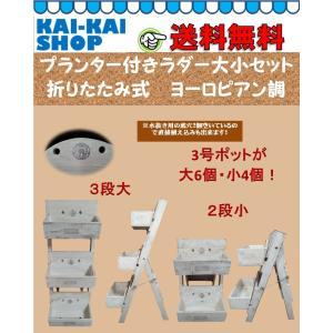 ラダープランター付き大小セット 折りたたみ式 ヨーロピアン調 お買い得|kaikai-shop