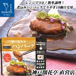 レトルト 煮込み ハンバーグ てりやき ソース 10個 神戸開花亭 自宅用 セット 食品 おかず のし・包装不可|kaikatei