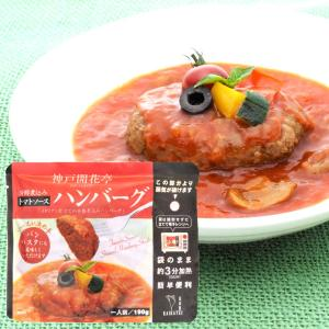 煮込み ハンバーグ トマトソース 1人前 190g 神戸開花亭 レトルト ポイント消化 のし・包装不可|kaikatei
