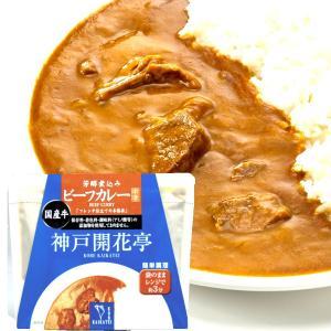 ビーフカレー 中辛 1人前 200g (カレー レトルト レトルトカレー) 神戸開花亭