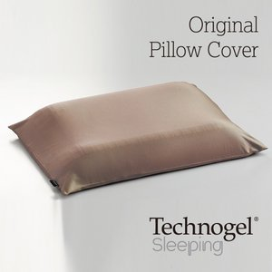 Technogel Sleeping 専用プラチナコットン枕カバー ブラウン テクノジェル kaimin-hakase