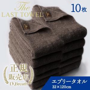 THE LAST TOWEL ザ・ラストタオル エブリー 10枚セット ブラウン
