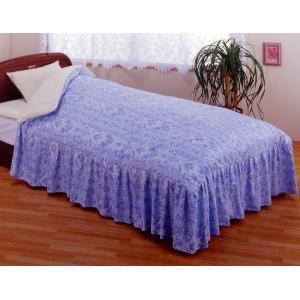 掛け布団カバー ダブル フリル付き ベッド用 柄あり あったか 洗える 綿100% 掛布団カバー 日本製|kaiminclub