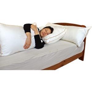 抱き枕 まくら 43×120 ロング 温度調節 もちもち触感 エンジェルタッチ温度調節抱き枕 日本製|kaiminclub