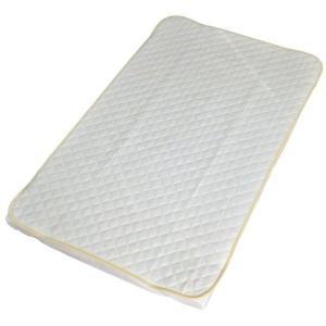 敷パッド ベビー 洗える 綿パイルキルト敷パッド アイボリー 70×120cm 日本製|kaiminclub