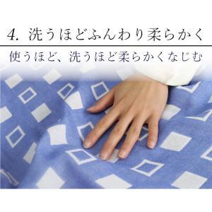 今治ガーゼケット 4重ガーゼケット シングル ブルー 吸汗速乾 洗える クールマックス 日本製|kaiminclub|11