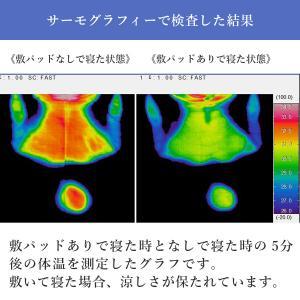 冷感 ひんやり 高通気 蒸れにくく快適高冷感敷パッド シングル ブルー 日本製 送料無料 kaiminclub 05