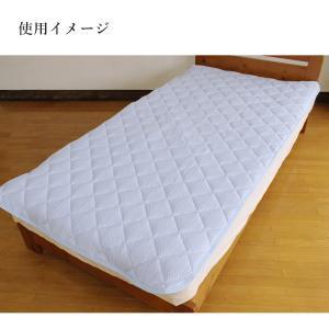冷感 ひんやり 高冷感中綿入り敷パッド シングル ブルー 日本製 送料無料|kaiminclub|05