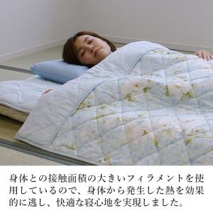 敷きパッド 敷パッド シングル 涼感 クール 吸汗速乾 夏用 ドライアイス素材 洗える 日本製 送料無料|kaiminclub|03