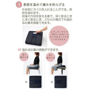 ホットGクッション お尻の悩みに 腰痛対策 低反発 40×40 カバー付き 日本製|kaiminclub|03