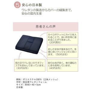 ホットGクッション お尻の悩みに 腰痛対策 低反発 40×40 カバー付き 日本製|kaiminclub|06