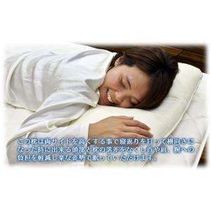 枕 まくら 40×60 低反発 横向き寝対応 吸汗速乾 低めまくら カバー付 日本製|kaiminclub|02