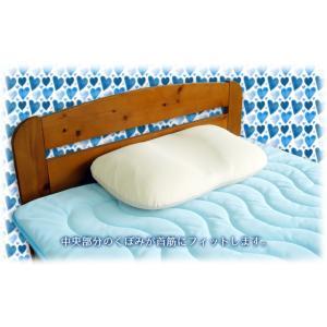 枕 まくら 40×60 低反発 横向き寝対応 吸汗速乾 低めまくら カバー付 日本製|kaiminclub|04