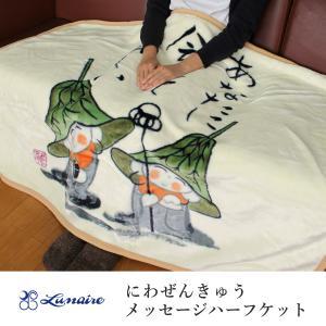 ハーフケット ブランケット  ハーフサイズ毛布 にわぜんきゅう おじぞうさんシリーズ|kaiminclub
