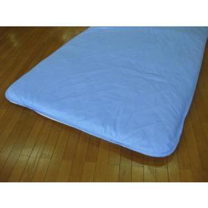 敷パッドシーツ シングル ブルー 綿100%側地 温度調節素材アウトラスト使用 日本製|kaiminclub|03