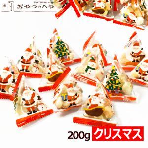クリスマス テトラ包装 5種の国産あられセット 200g(個包装約30個) 小分け 小袋|kaimonojouzu