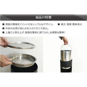 屋外灰皿 A-085B 丸型 ブラック アッシュトレイ 業務用 灰皿 スタンド灰皿 ゴミ箱付き灰皿 送料無料 kainetspg 06