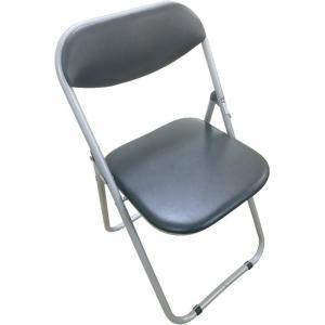 【1脚】折りたたみパイプ椅子 ブラック 会議椅子 パイプチェア 業務椅子 折りたたみパイプ椅子 会議...