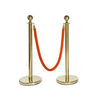 ロープパーテーションセット L6-51B-Set ロープ付 ガイドポール ポールスタンド ポールパーテーション ゴールド 送料無料|kainetspg