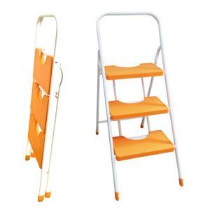 カラー脚立 XS-3 3段 オレンジ Orange おしゃれ 折りたたみ ホームステップ 送料無料|kainetspg