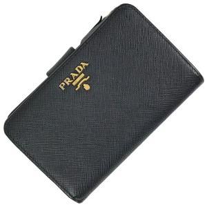 プラダ PRADA サフィアーノ 三つ折り財布 折り財布 サフィアーノレザー レディース 【中古】