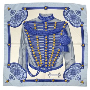エルメス HERMES カレ 90 BRANDEBOURGS ブランデンブルク飾り スカーフ シルク...