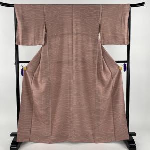 小紋 美品 秀品 幾何学 薄紫 袷 身丈166cm 裄丈67cm M 正絹 【中古】|kaipre