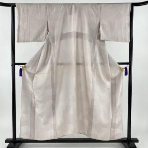 小紋 美品 優品 一つ紋 柄寄せ 薄紫 単衣 身丈156cm 裄丈62cm S 正絹 【中古】|kaipre