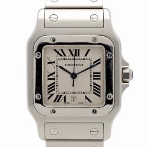 Cartier カルティエ サントス ガルベ LM クォーツ 腕時計 W20060D6 中古 腕時計