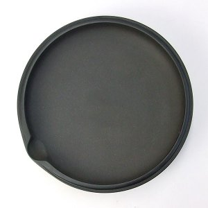 セラミック製 黒合円硯|kaiseidou