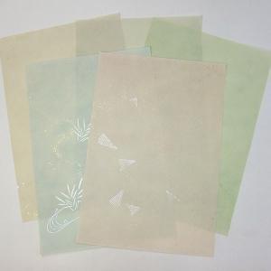 高級御料紙 五柄 音羽山 半懐紙10枚 書道用品 加工紙|kaiseidou