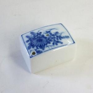 陶器 染付水滴 角中  kaiseidou