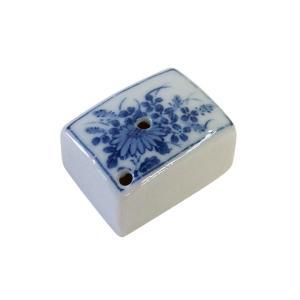陶器 染付水滴 角小 kaiseidou