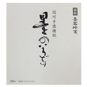 墨のいろどり 色紙判 20枚 墨客吟箋 画帖|kaiseidou