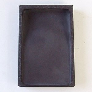 端渓 坑仔岩 長方彫刻硯 5吋 硯石 書道用品|kaiseidou